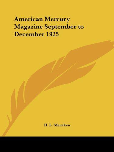 9780766164802: American Mercury Magazine September to December 1925