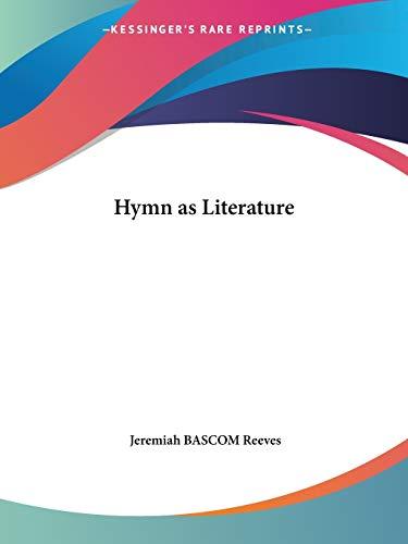 9780766171602: Hymn as Literature