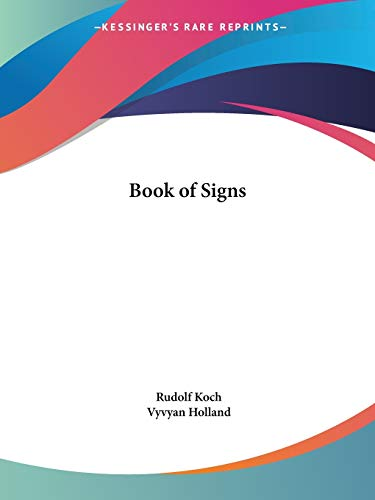 9780766176522: Book of Signs, 1930