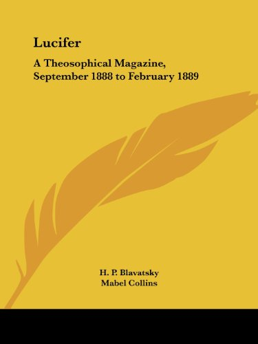 9780766177079: Lucifer: A Theosophical Magazine, September 1888 to February 1889