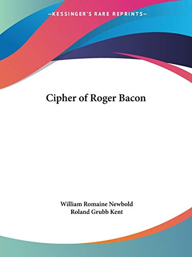 9780766179561: Cipher of Roger Bacon