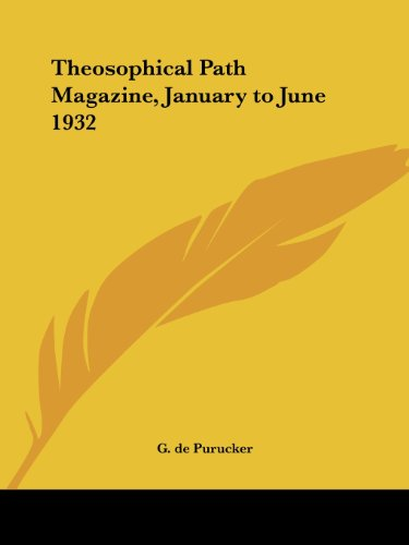 9780766180727: Theosophical Path Magazine, January to June 1932