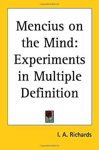 9780766192201: Mencius on the Mind: Experiments in Multiple Definition