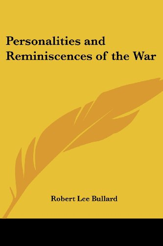 9780766197428: Personalities and Reminiscences of the War