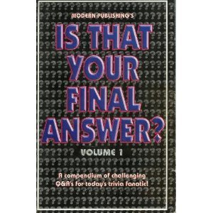 9780766606005: Is That Your Final Answer?