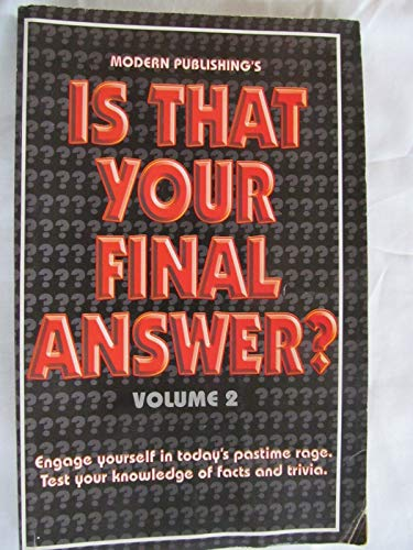 Is That Your Final Answer: Editor