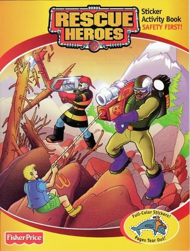 9780766608214: Rescue Heroes Safety First (Sticker Activity Book)