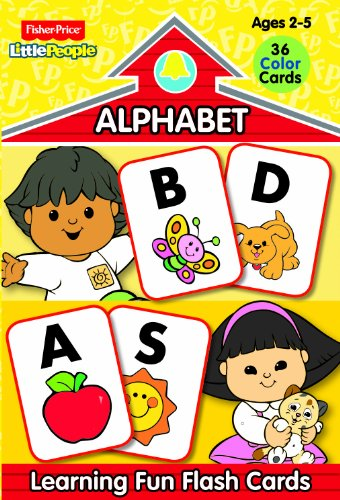 9780766613836: Fisher Price Little People Preschool Flash Cards-Alphabet