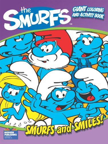 9780766637467: the Smurfs Smurfs and Smiles Giant Coloring and Activity Book
