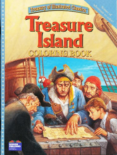 9780766637603: Treasure Island Coloring Book (Treasury of Illustrated Classics)