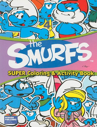 9780766637740: The Smurfs Super Coloring and Activity Bk