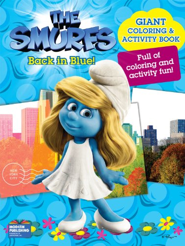 Smurfs Movie Giant Color Book - Back in Blue!: Modern Publishing