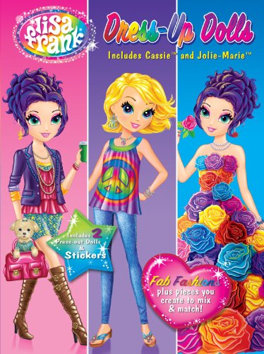 9780766641136: Lisa Frank Dress Up Dolls-Fab Fashions