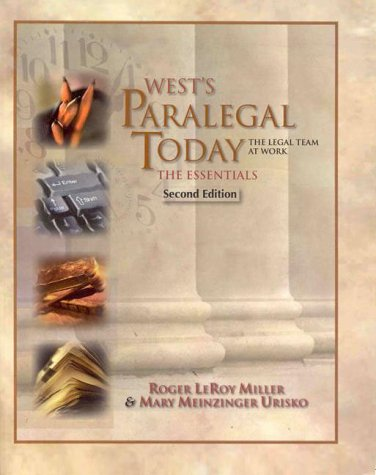 9780766810167: West's Paralegal Today: The Essentials