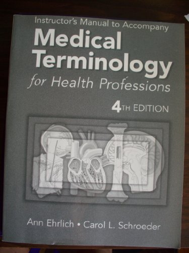 9780766813250: Medical Terminology for Health Professions 4th Edition