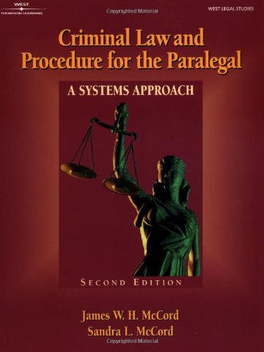 9780766819658: Criminal Law & Procedure for the Paralegal: A Systems Approach