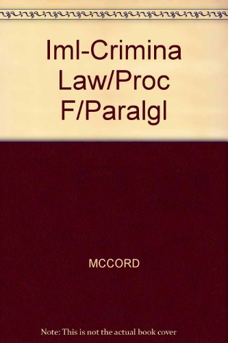 9780766819665: Iml-Crimina Law/Proc F/Paralgl