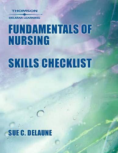 9780766824546: Fundamentals Of Nursing Skills Checklist