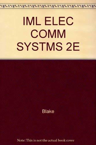 IML ELEC COMM SYSTMS 2E: Blake