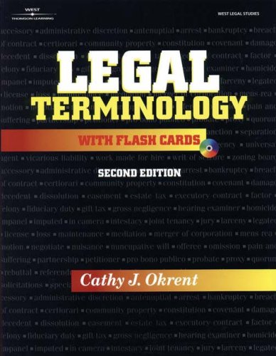 9780766827615: Legal Terminology with Flashcards