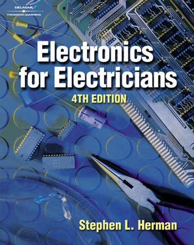 Electronics for Electricians 9780766828636 Now in its fourth edition, Electronics for Electricians is written for apprentices and readers preparing for work in industrial settings. Components and circuits are explained in a clear-cut manner throughout the book, with emphasis on describing how they work, what they do, how to use them in a working circuit, and how to test them. With successfully proven laboratory experiments in every chapter, this book exposes readers to the electronic devices commonly found in industry as well as the circuit applications of those devices. In the process, it offers its readers a more practical and relevant path to understanding how electronics theory is applied in the electrical field.