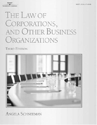 9780766831988: The Law of Corporations and Other Business Organizations (West Legal Studies Series)
