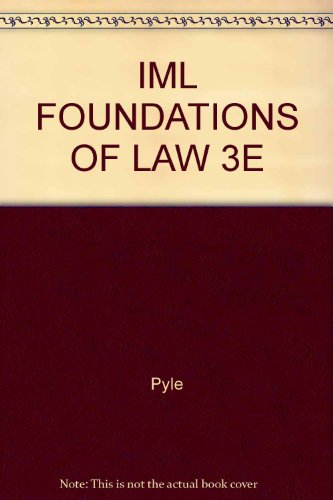 Foundations of Law Cases: Commentary and Ethics: n/a