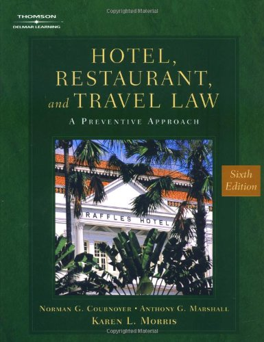 9780766835993: Hotel, Restaurant & Travel Law (HOTEL, RESTAURANT AND TRAVEL LAW)