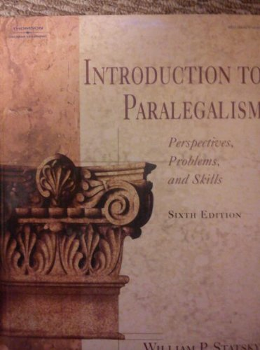 9780766839427: Introduction to Paralegalism: Perspectives, Problems, and Skills