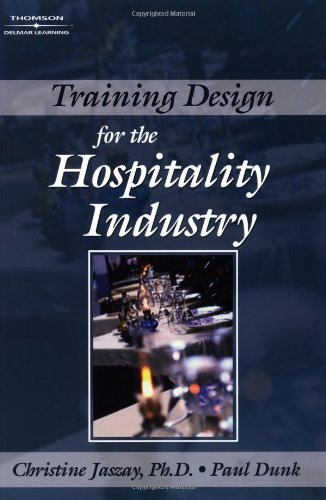 9780766845930: Training Design Guide for the Hospitality Industry