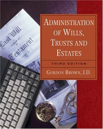 9780766852815: Administration of Wills, Trusts, and Estates