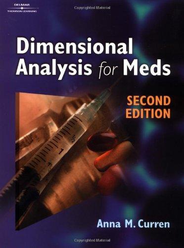 9780766859388: Dimensional Analysis for Meds