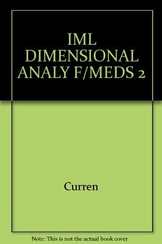 9780766859395: Dimensional Analysis for Meds