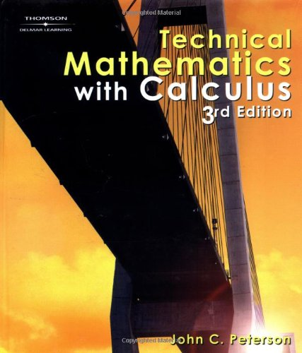 9780766861893: Technical Mathematics with Calculus, 3E (Applied Mathematics)