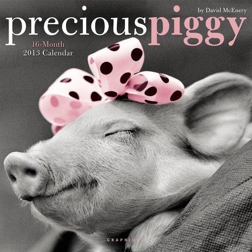 9780767190893: Precious Piggy 2013 Calendar