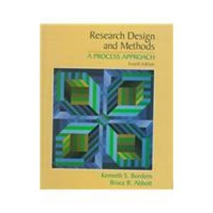 9780767405072: Research Design and Methods: a Process Approach