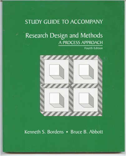 9780767405089: Research Design & Methods: A Process Approach