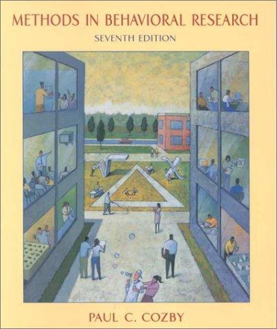 9780767410632: Methods in Behavioral Research