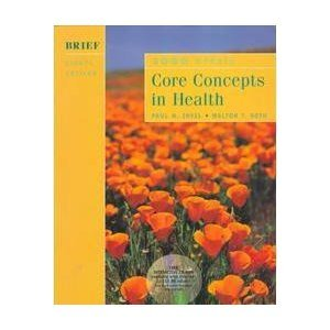 9780767412049: Core Concepts in Health: 2000 Update