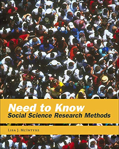 9780767413176: Need to Know: Social Science Research Methods (B&B Sociology)