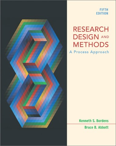 9780767421522: Research and Design Methods: A Process Approach