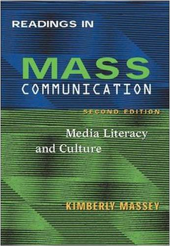 9780767424769: Readings In Mass Communications: Media Literacy and Culture