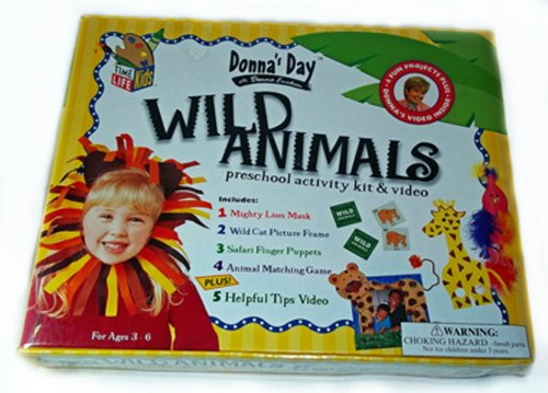 9780767600422: Donna's Day Wild Animals Pre-school Activity Kit & Video [VHS]