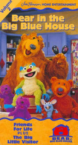 9780767814218: Bear in the Big Blue House, Vol. 2 - Friends for Life / The Big Little Visitor [VHS]