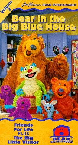 9780767814225: Bear in the Big Blue House, Vol. 2 - Friends for Life / The Big Little Visitor [VHS]