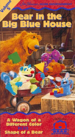 9780767831130: Bear in the Big Blue House, Vol. 5 - A Wagon of a Different Color / Shape of a Bear [VHS]