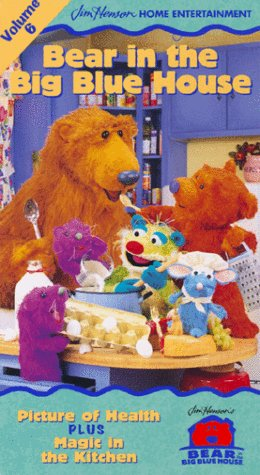 9780767831178: Bear in the Big Blue House, Vol. 6 - Picture of Health / Magic in the Kitchen [VHS]