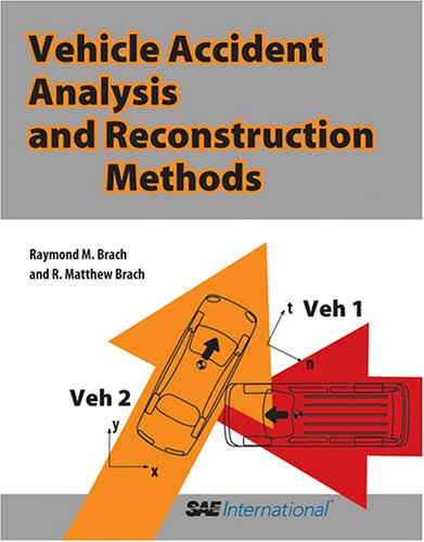 9780768007763: Vehicle Accident Analysis and Reconstruction Methods