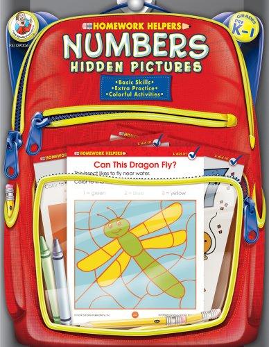 9780768206777: Numbers Hidden Pictures Homework Helper, Grades PreK to 1