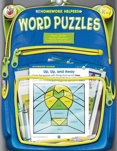 9780768206951: Word Puzzles Homework Helper, Grades K to 1